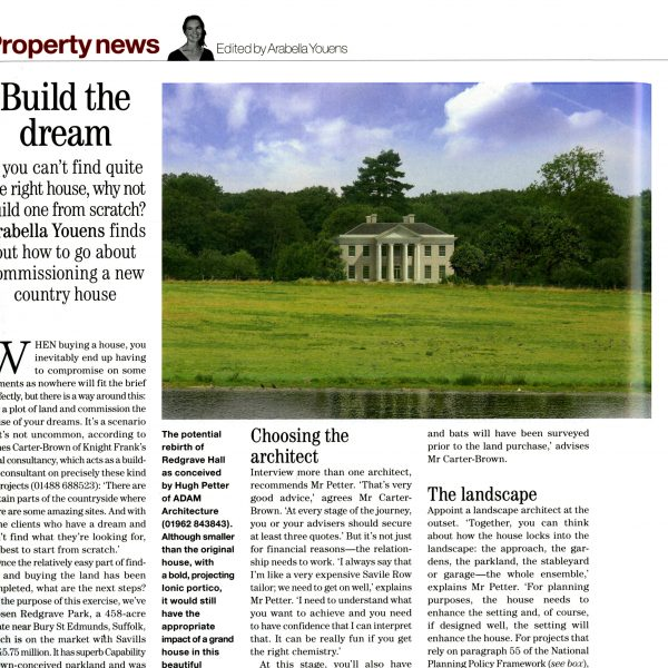 Build the Dream – Country Life