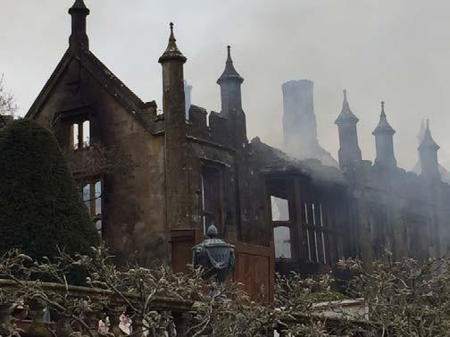Parnham-House after the fire