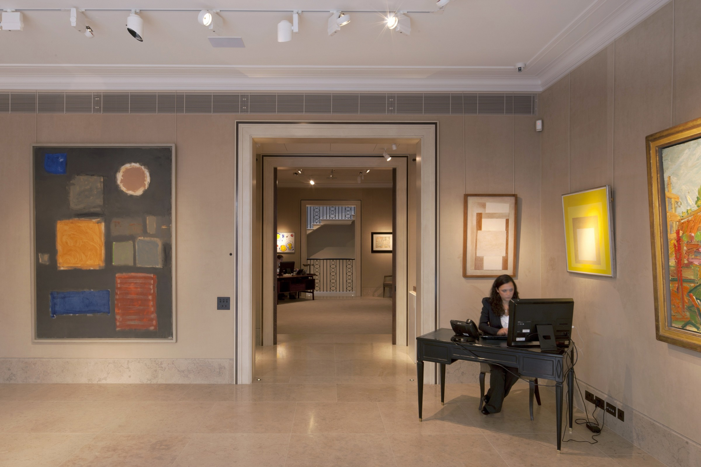Richard Green Gallery interior, New Bond Street, London