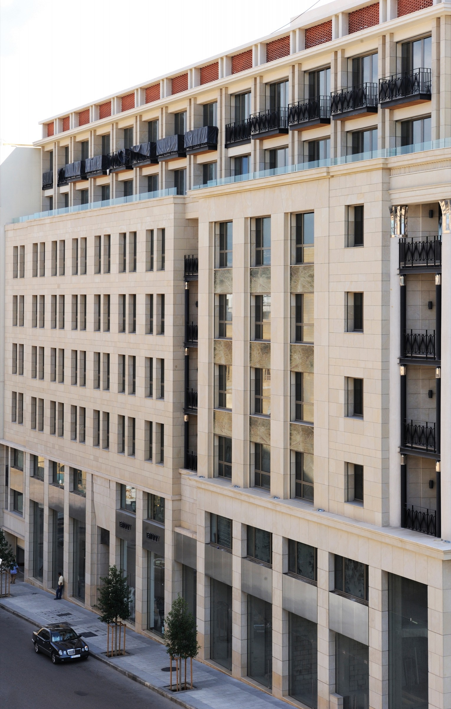 Commercial building on historic site in Beirut