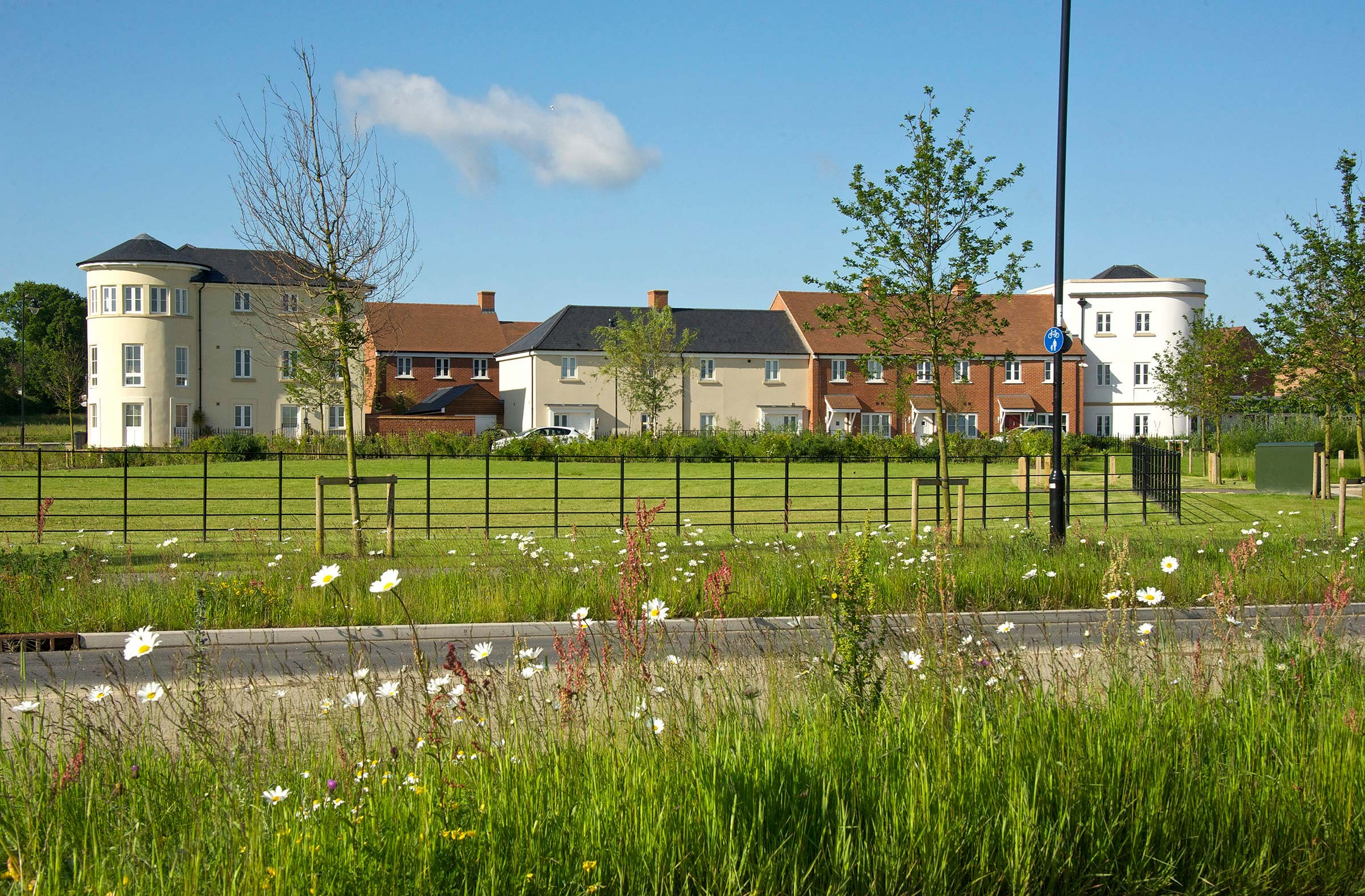 New housing at Berewood, Waterlooville in Hampshire