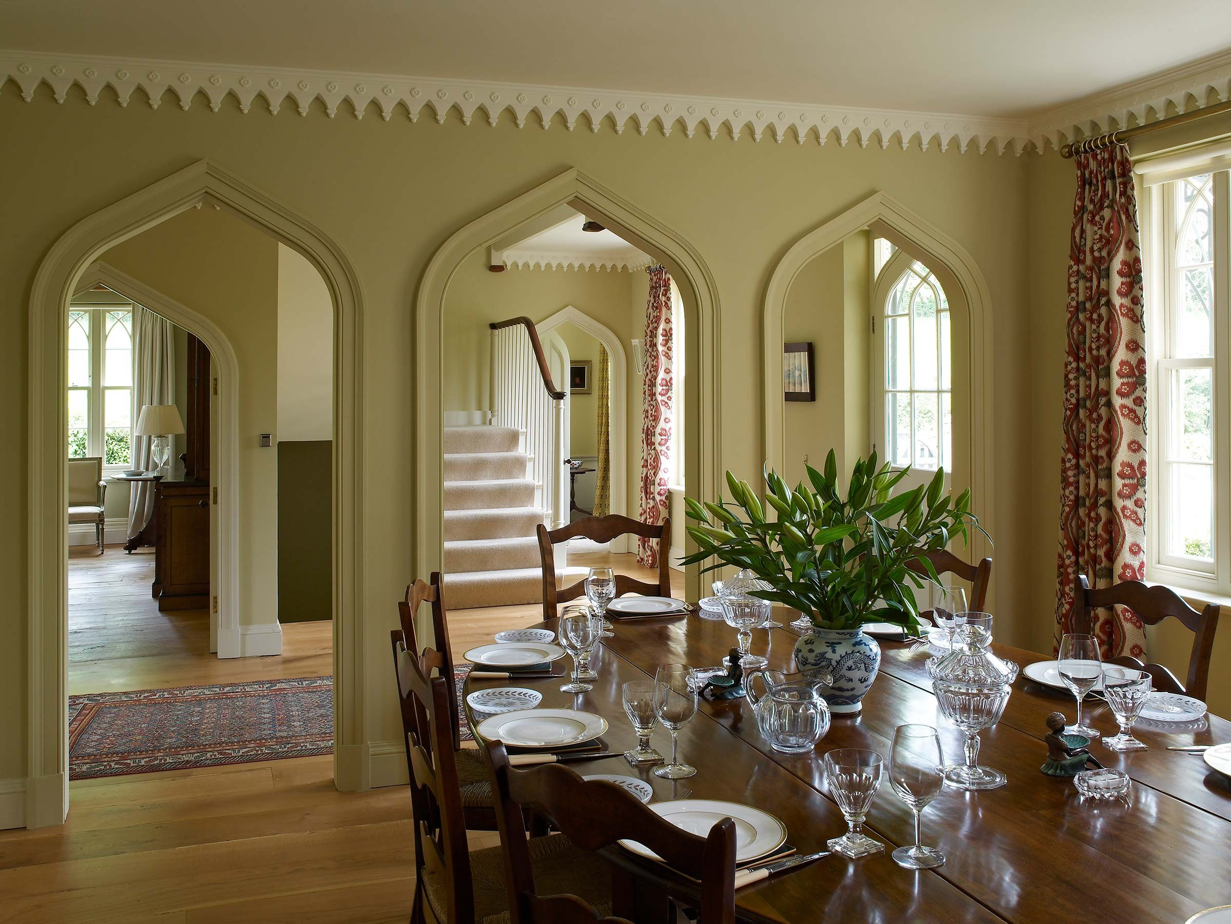 New Cottage Orné house interior, Hampshire