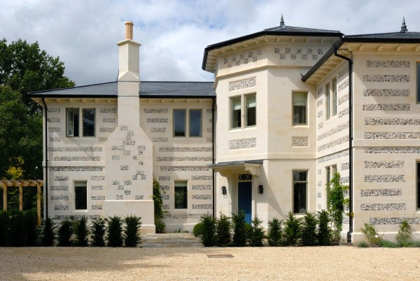 Stone and flint house, Wiltshire