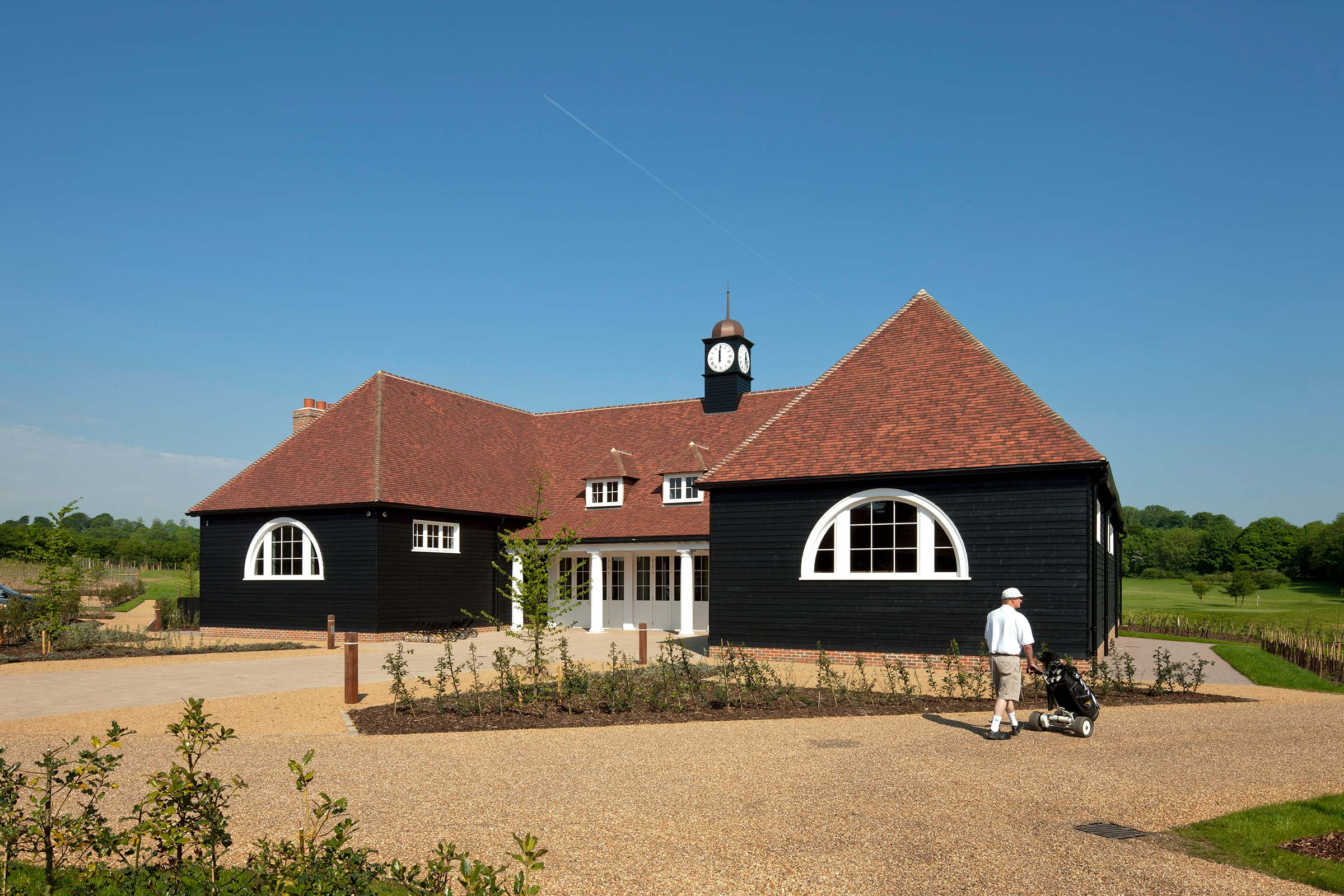 New clubhouse at Stocks Golf Club, Hertfordshire