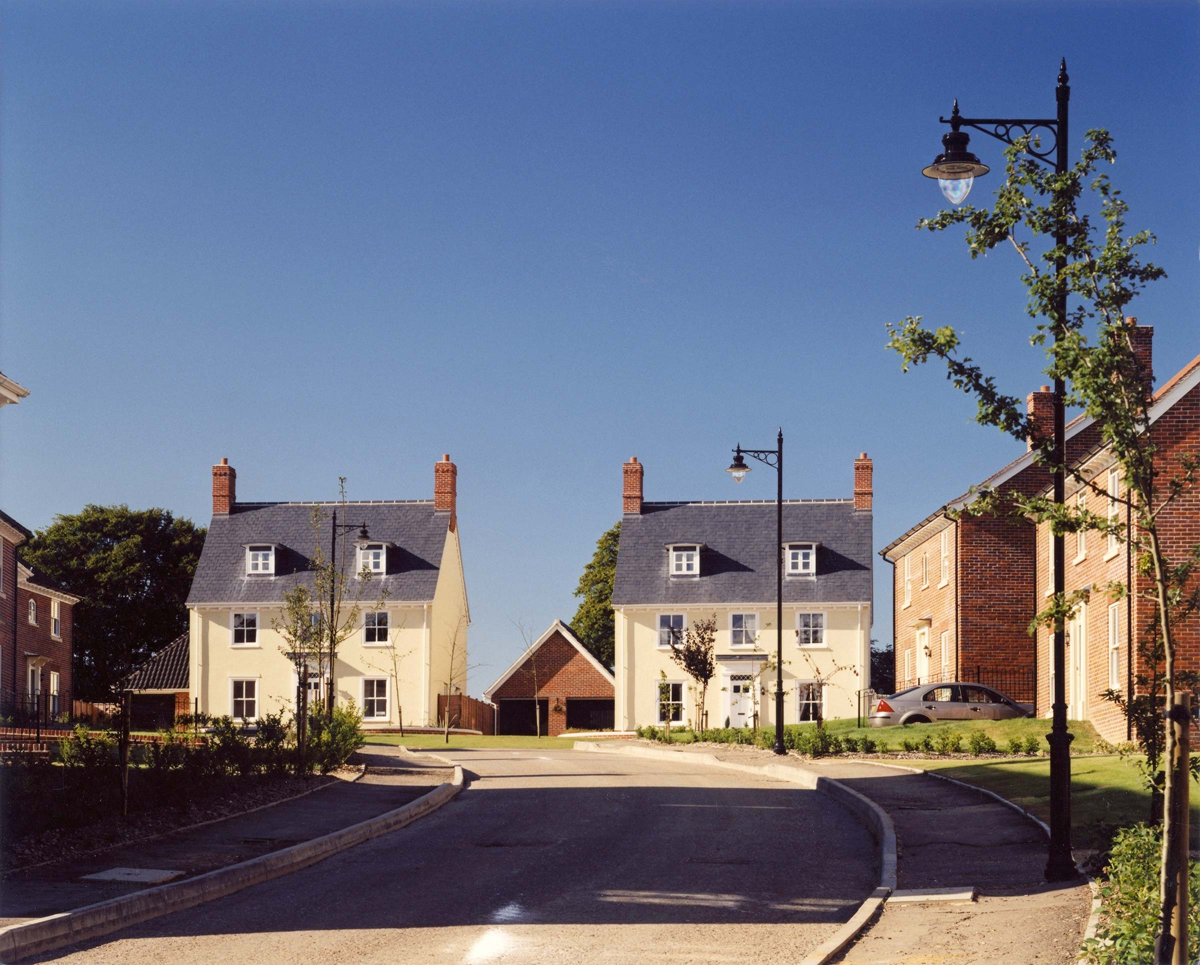 New housing at Trowse Newton, Norfolk