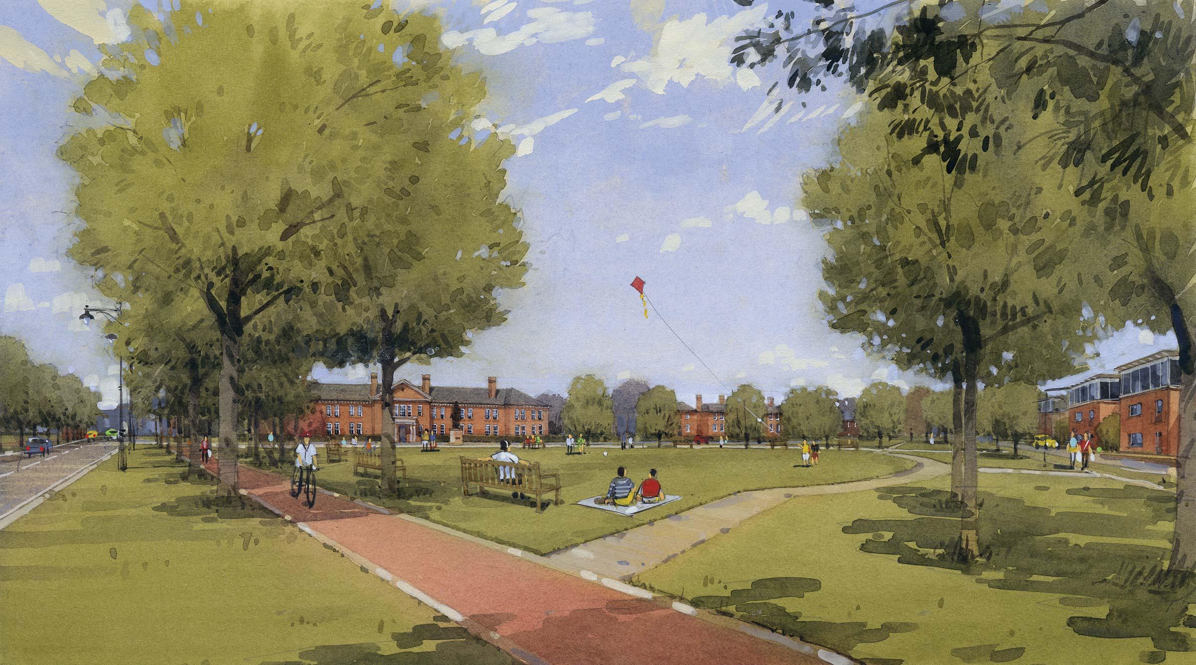 Urban extension of Wellesley in Aldershot, Hampshire