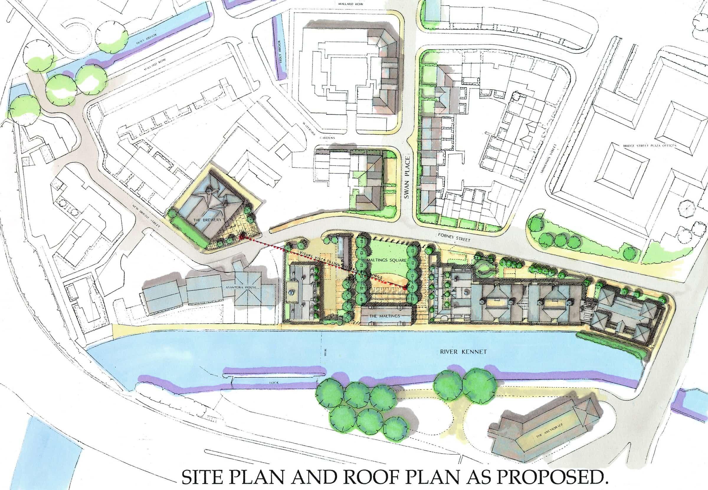 Canalside development at Bear Wharf, Reading