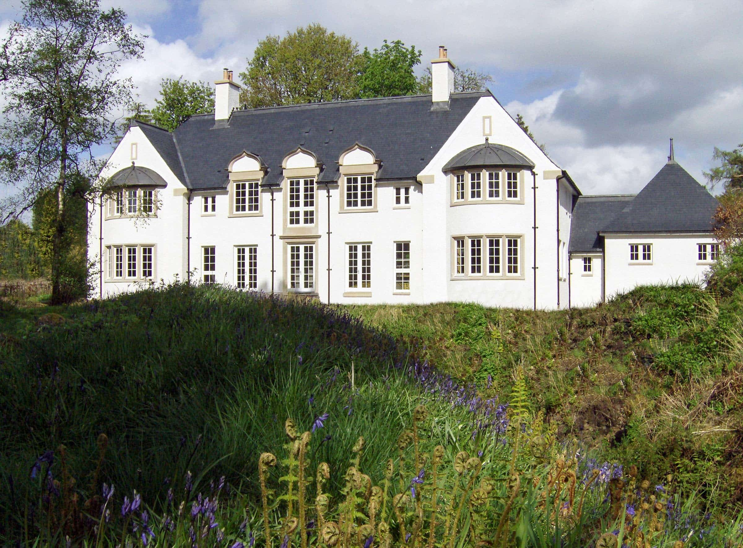 Arts & Crafts houses at Avenel, Scotland
