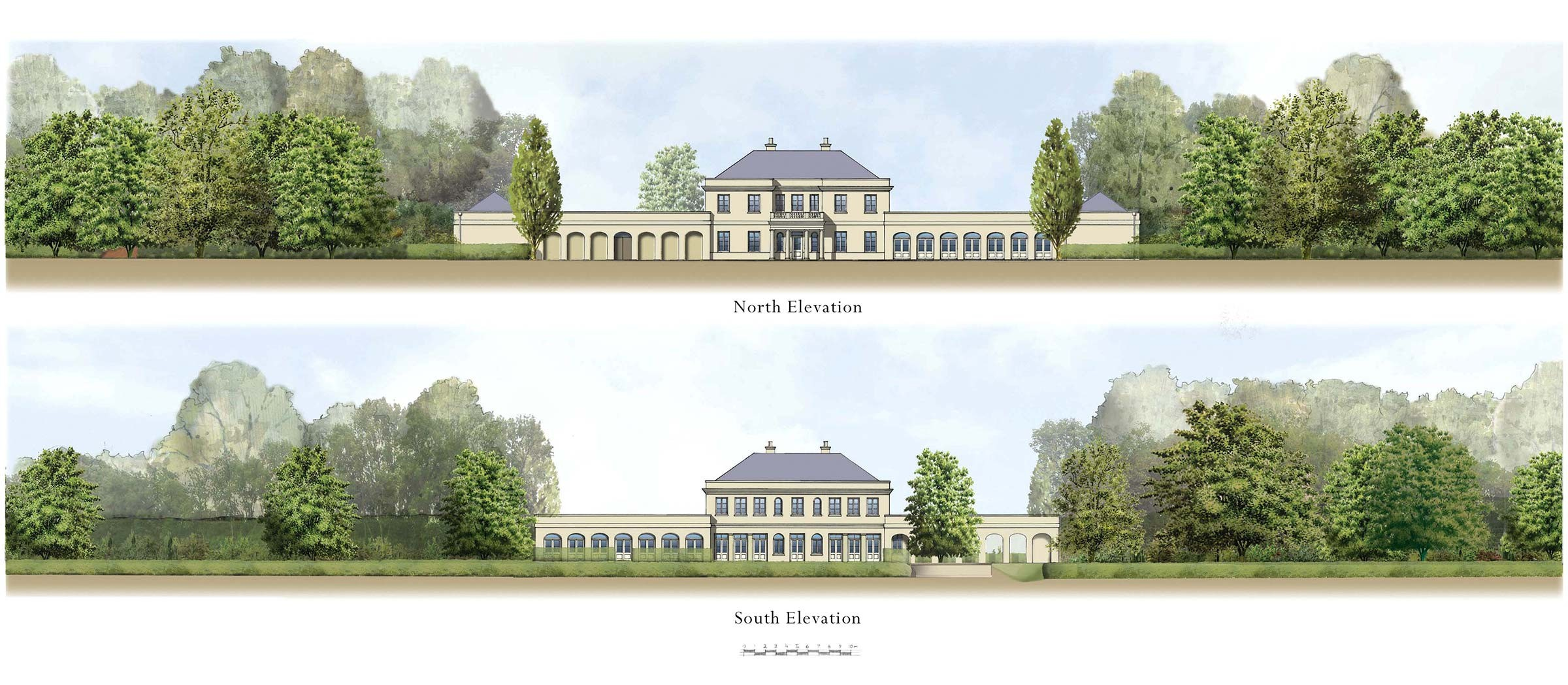 New country house near Rugby, Warwickshire