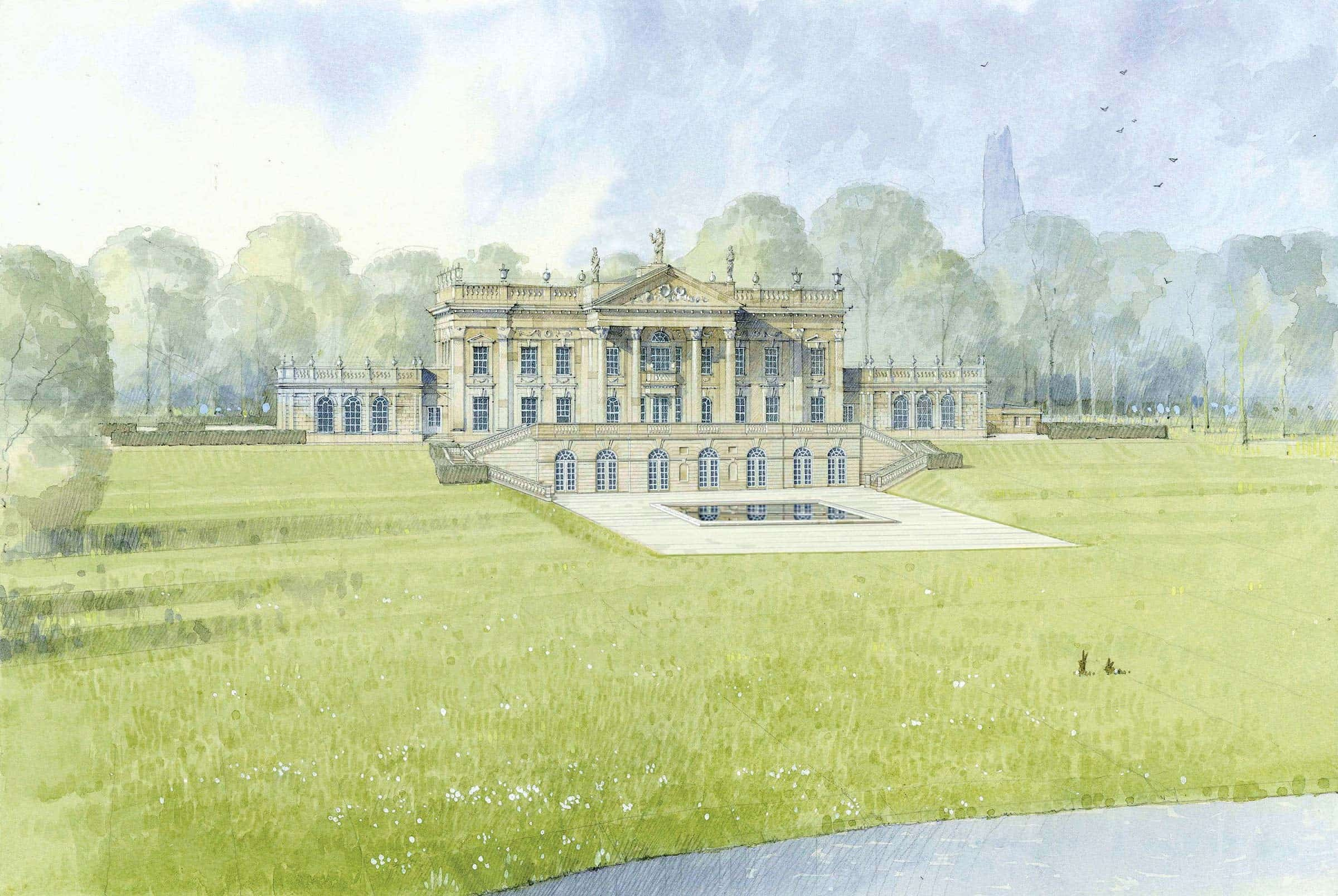 New English Baroque country house, Berkshire