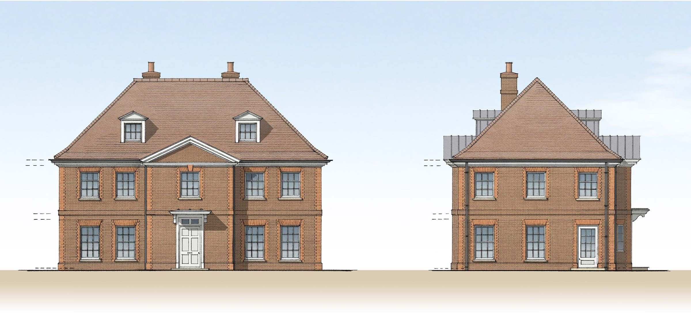 New housing at Wickhambreaux, Kent