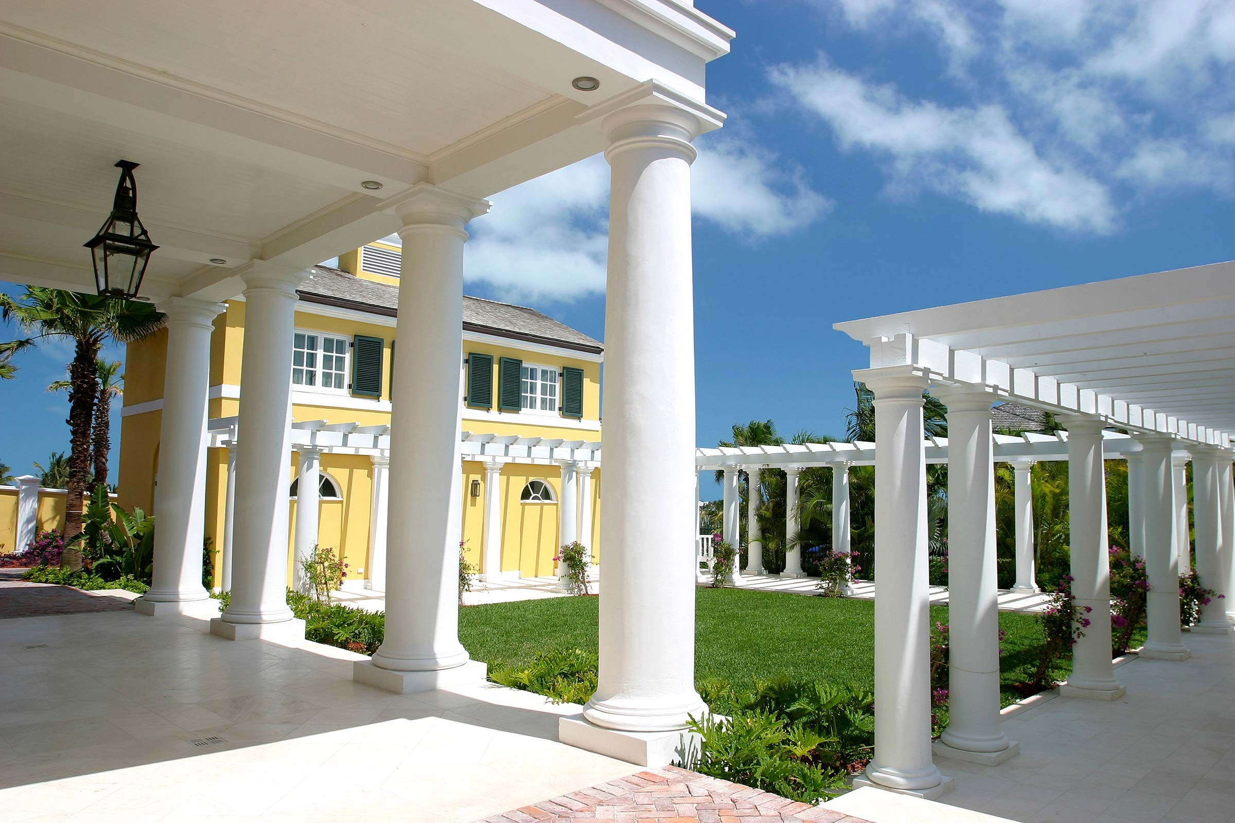 Colonial style house in the Bahamas