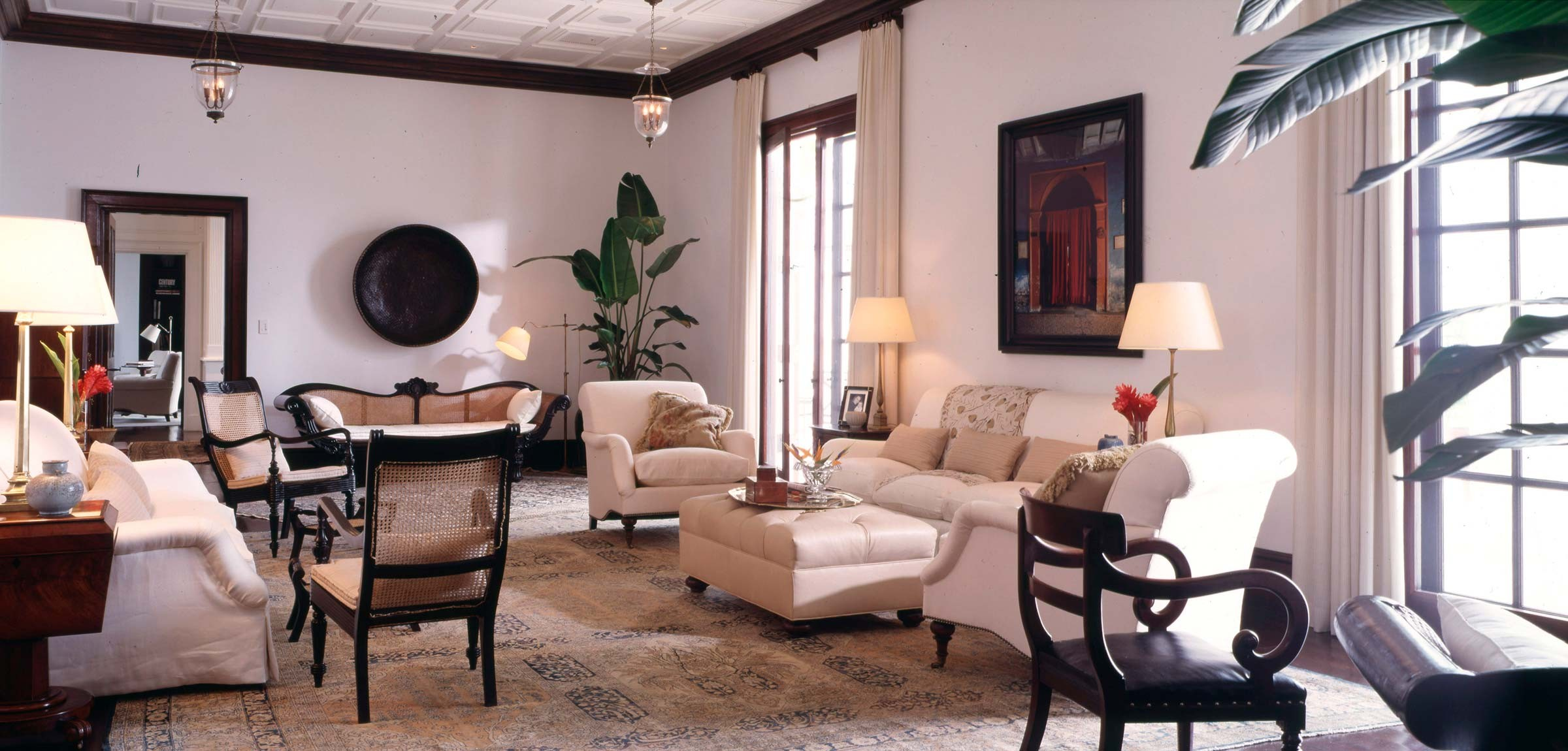 Colonial style house interior in the Bahamas