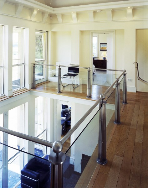 Experimental solar house interior, Sussex Downs