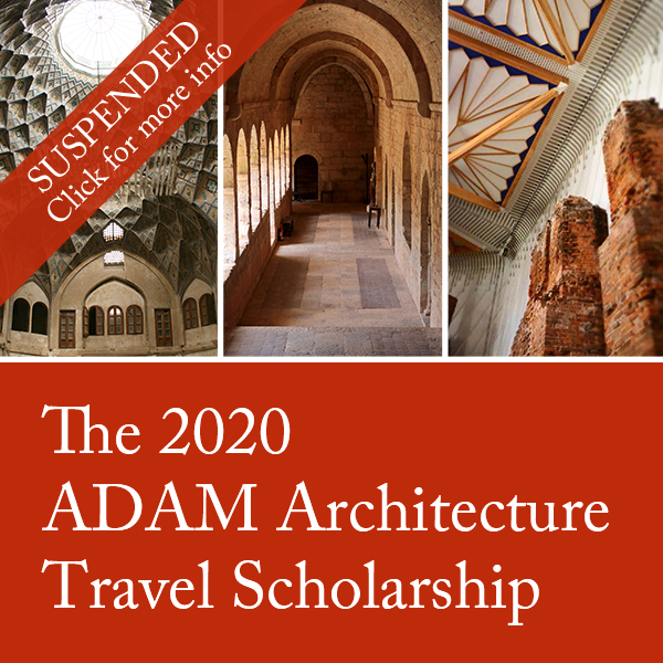 ADAM Architecture Travel Scholarship suspended