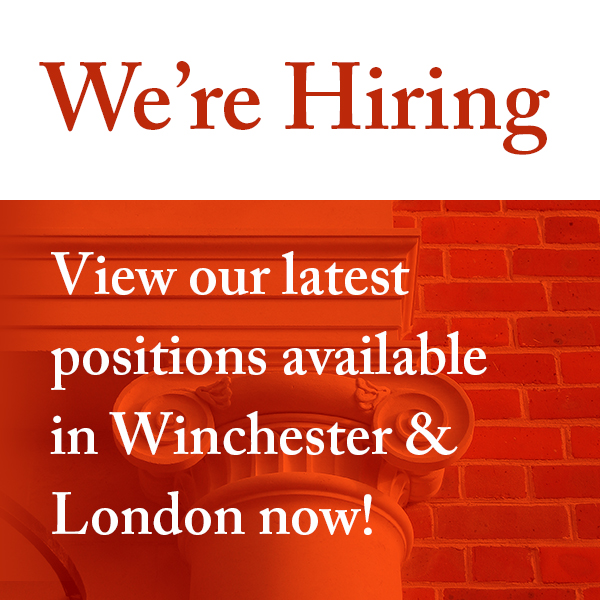 We're hiring! We have positions in both our Winchester and London offices