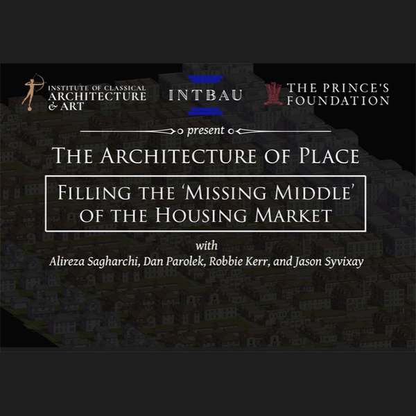 Robbie Kerr takes part in talk for the ICAA 'The Architecture of Place: Filling the missing middle' – December 2020