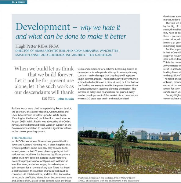 Development – why we hate it and what can be done to make it better – by Hugh Petter for Hampshire Gardens Trust