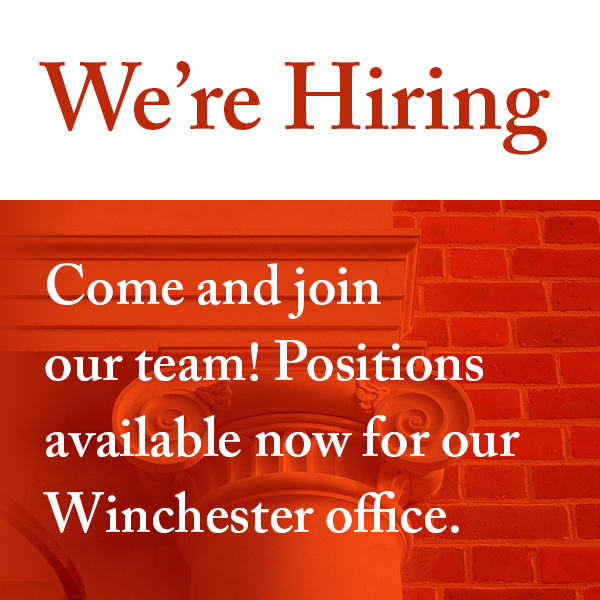 We recruiting for positions in our Winchester office
